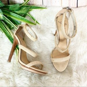 Badgley Mischka Mark + James Snakeskin Heels